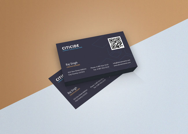 Elegant Business Card Template and Mockup PSD