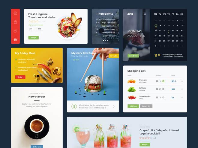 Free Restaurant UI Kit (PSD + Sketch)
