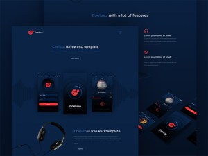 Coeluso : Mobile App Landing Page PSD Template