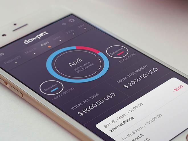 wallet finan app ui sketch