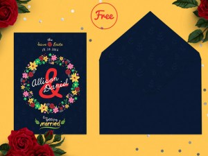 Enamora - Free Save The Date Card PSD Template