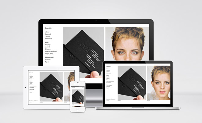 Exposito : Free WordPress Theme with Horizontal Layout