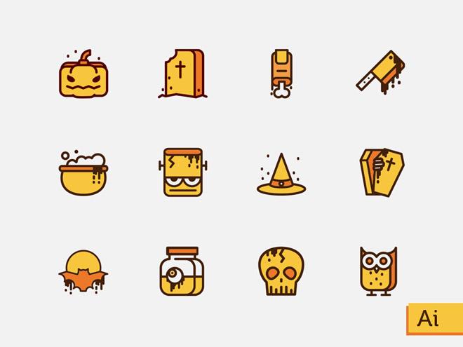 Free Vector Halloween Icons