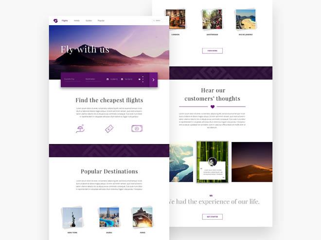 Free Travel PSD Website Template