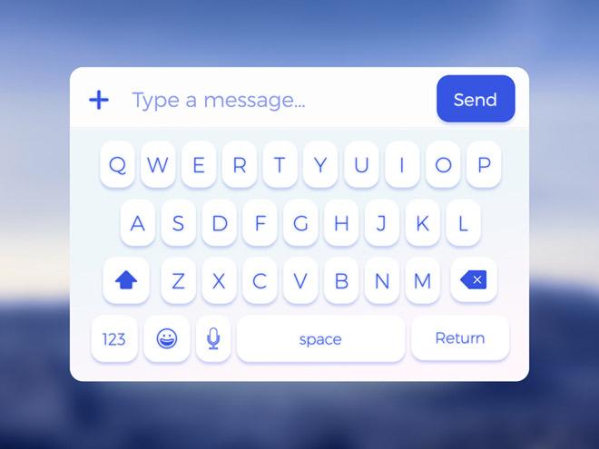 Mobile App Keyboard UI (Sketch)