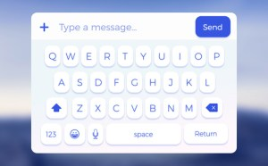 Mobile App Keyboard UI (Sketch)