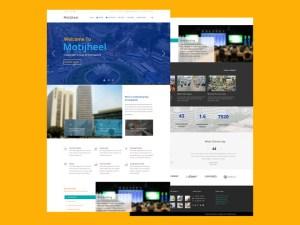 Motijheel Single Page PSD Template