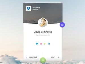 User Profile UI (Sketch)