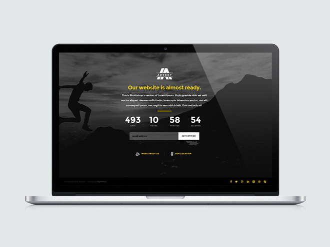 Advent : Free Coming Soon HTML5 Template