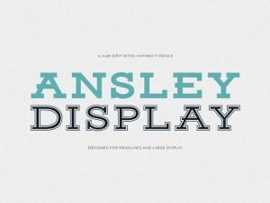 Ansley Free Display Typeface