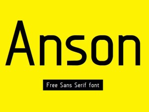 Anson : Free Sans Serif font