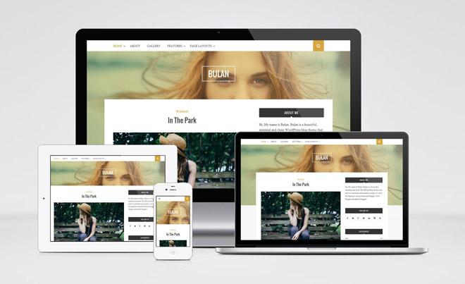 Bulan : Free Minimal Blogging Wordpress Theme