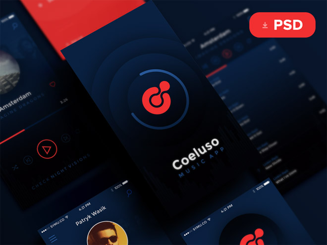 Coeluso : Free Music App UI Kit