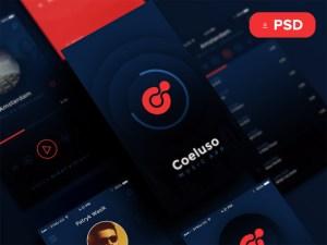 Coeluso : Free Music App UI Kit