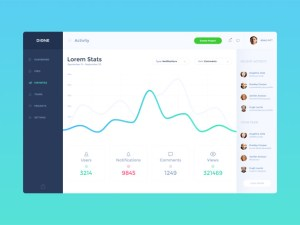 Dione : Free Minimal Dashboard PSD Template