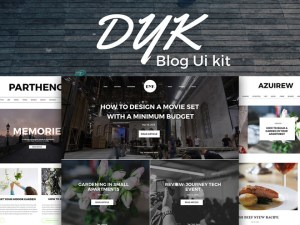 Dyk- Free Blog UI Kit PSD
