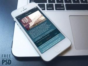 Free Ebook App UI PSD