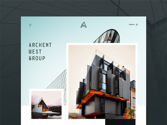 Free Architecture Website Template (PSD and Sketch)