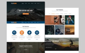 Free Parallax Business PSD Template
