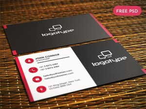 Free Porfessional Business Card PSD