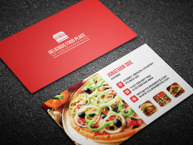 Free restaurant business card template free download freebiesjedi free restaurant business card template accmission Image collections