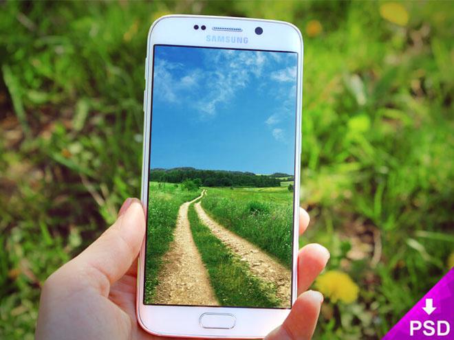 Free Samsung Galaxy S6 Edge Mockup