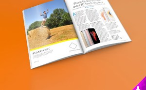 Glossy Magazine Mockup PSD
