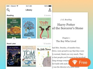 iOS Book Reader App UI Design (Sketch)