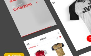 Jerseypedia : Mobile Ecommerce UI Kit (Sketch)
