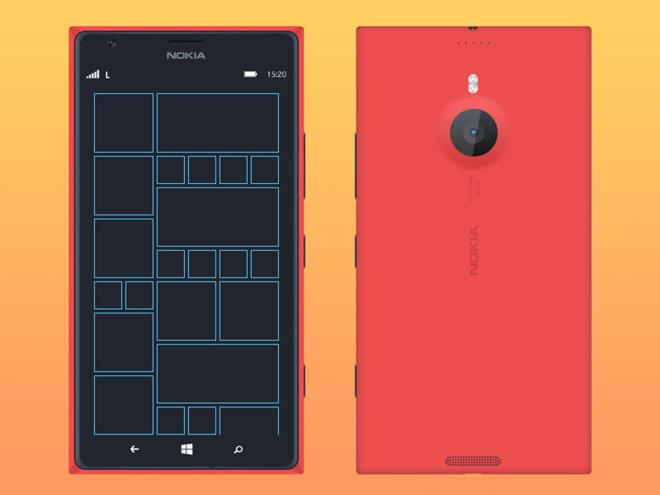 Free Nokia Lumia 1520 Mockup PSD