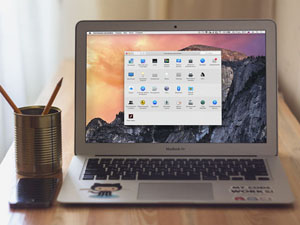 MacBook Air Hipster Mockup PSD