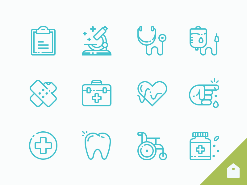 Free Medical Icon Set (AI and SVG)