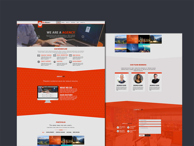 New Agency : PSD Template for Creative Agency