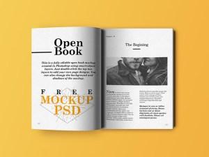 Realistic Open Book Mockup PSD