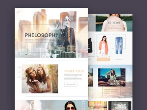 Free fashion ecommerce psd template