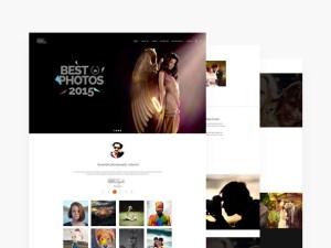 Photographer PSD Web Template