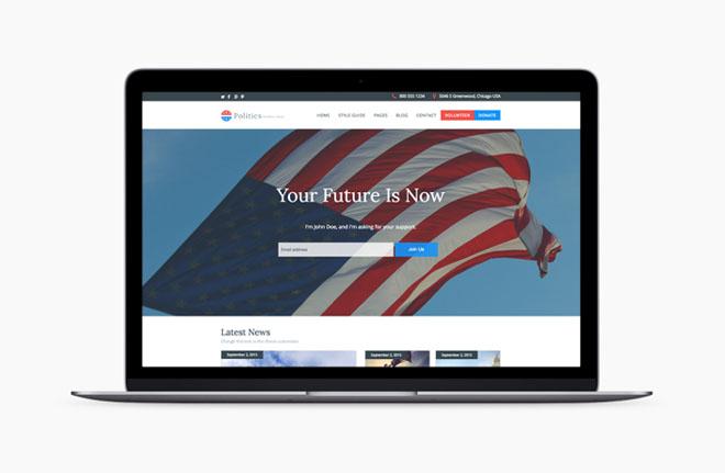 Politics : Free Political Wordpress Theme
