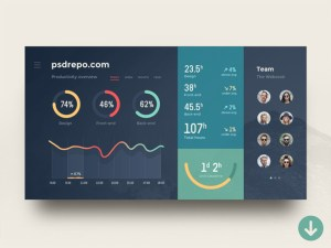 Free Admin Dashboard UI Template (PSD and Sketch)
