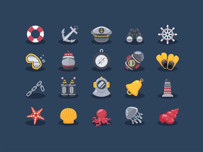 Free Sea Elements Icon