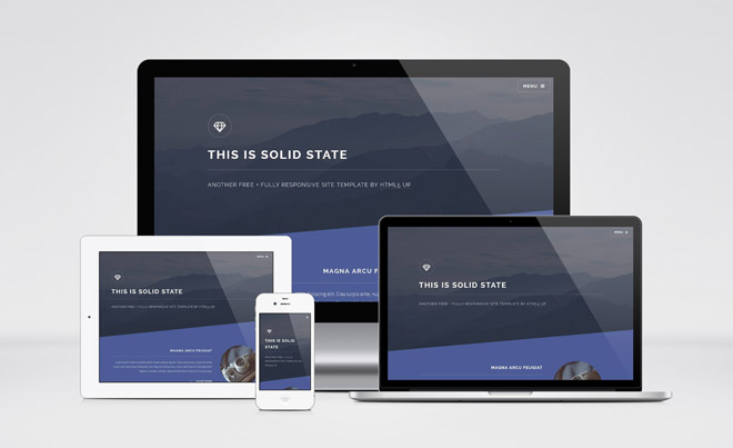 Solid State : Minimal Responsive HTML5 Template