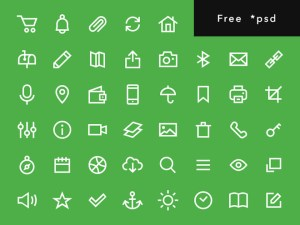 Uniicons : Free Outline PSD Icon