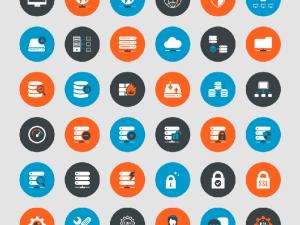 Free Web Hosting Icon Set