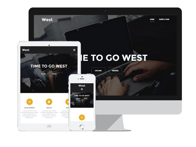 West : Responsive Business WordPress Theme