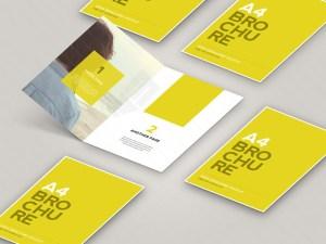 Free Open Brochure Mockup PSD