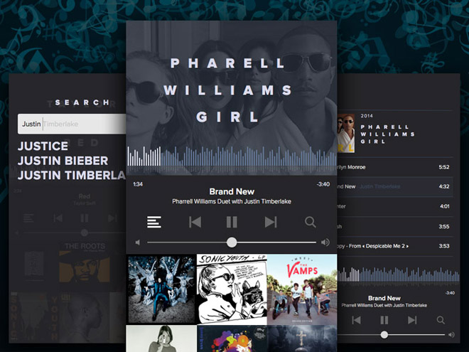 Free Music Player GUI (Sketch)