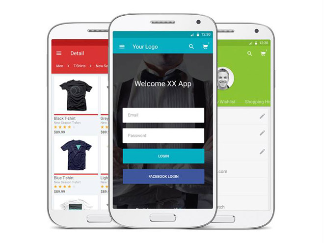 Material Design Ecommerce App UI Kit