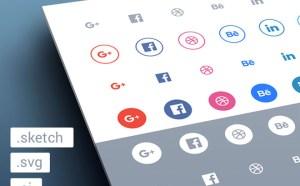Free Flat Social Icons (Sketch, SVG, AI)