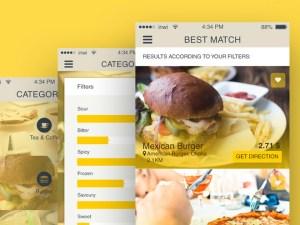 Free Restaurant Finder App UI for iOS