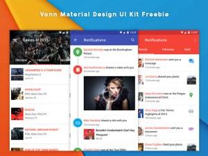 Vonn : Free Material Design UI Kit