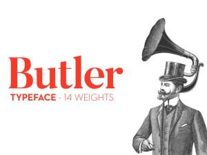 Butler Free Modern Font